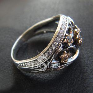 Кольцо с топазами «Весенняя Рапсодия»