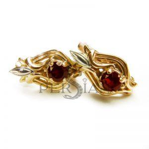 Серьги из золота «Божественная Лилия» с гранатом