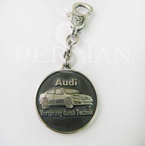 Брелок для авто из серебра «Audi»