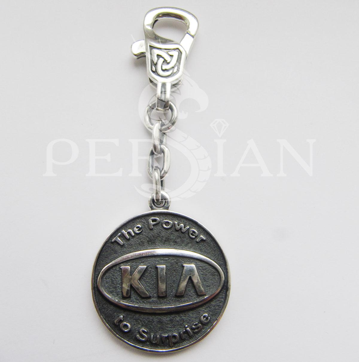 Брелок для авто из серебра «Kia»