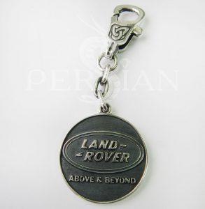 Брелок для авто из серебра «Land Rover»