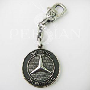 Брелок для авто из серебра «Mercedes»