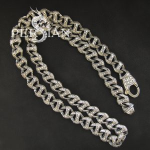Серебряная мужская цепь «Триада»