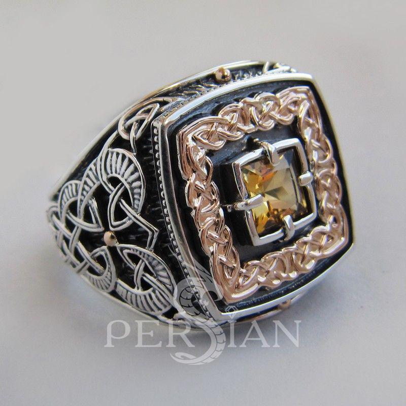 Серебряный перстень «Дар Волхвов» с цитрином