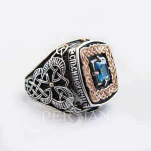 Серебряный перстень «Дар Волхвов Спаси и Сохрани» с лондон топазом