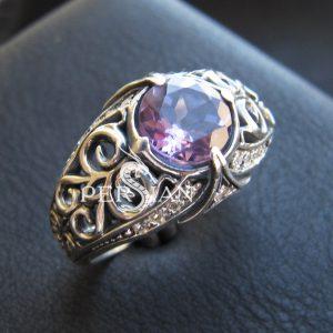 Серебряное кольцо «Estinae» с аметистом
