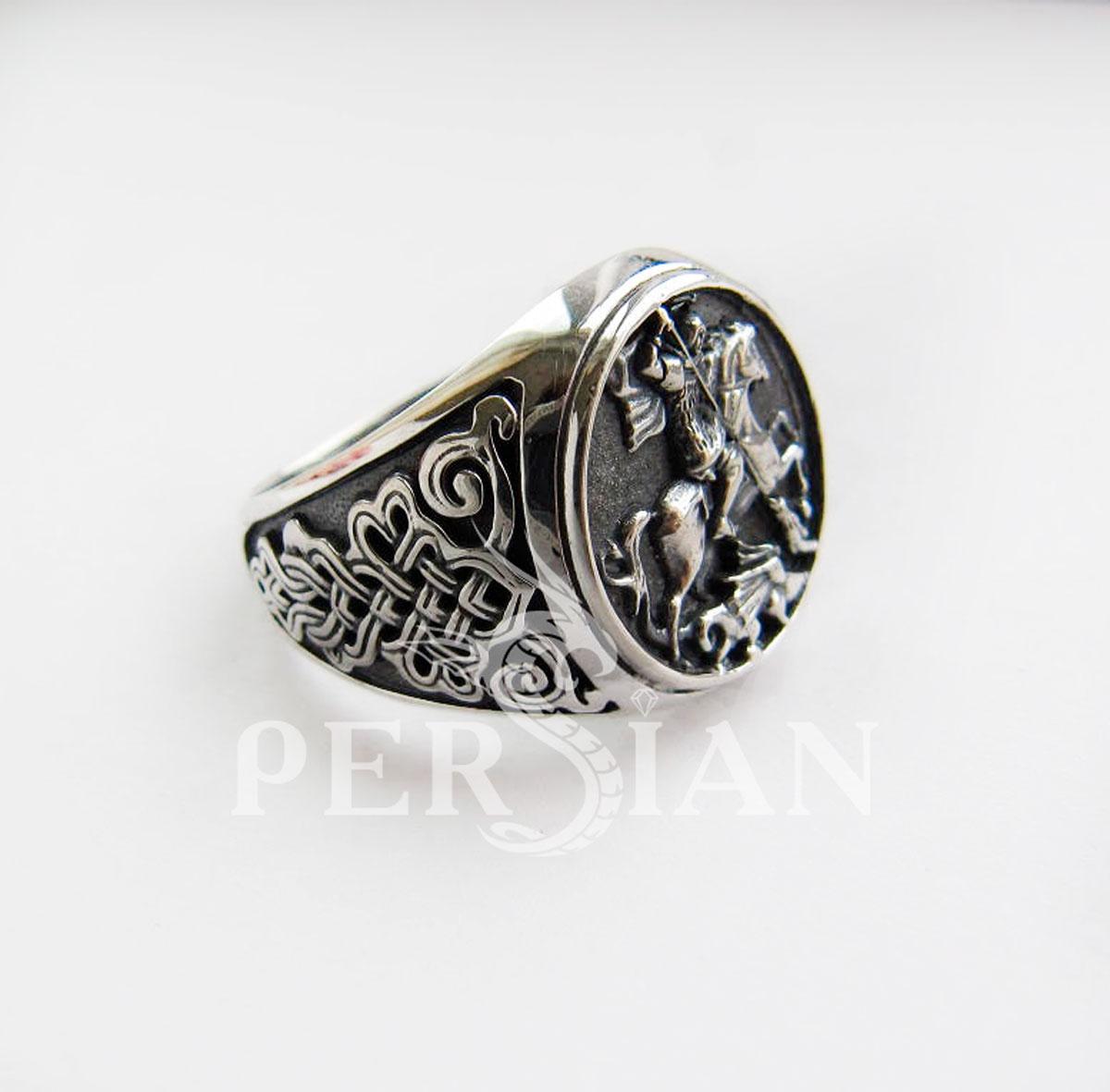 Серебряный перстень «Георгий Победоносец»