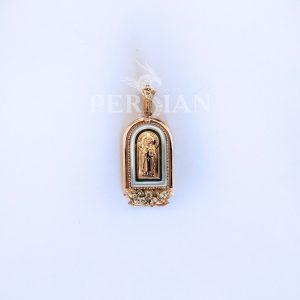 Подвеска золотая «Николай Чудотворец» с бриллиантами