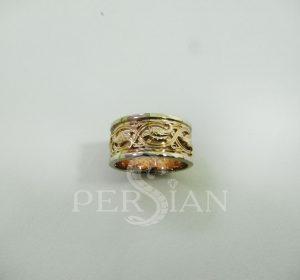 Кольцо золотое «Райские Птички» со вставкой из белого золота