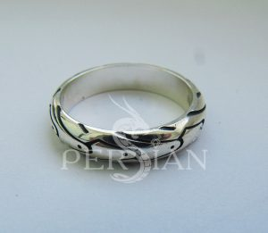 Кольцо серебряное «Мото» тонкое