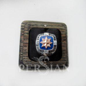 Серебряный перстень «Роза Ветров» с лазуритом и лондон топазами
