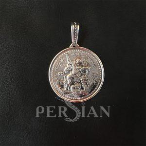 Подвеска «Георгий Победоносец» серебряная