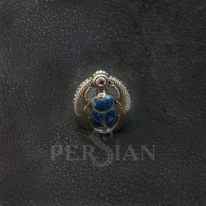 Перстень «Скарабей» с лазуритом и аметистом