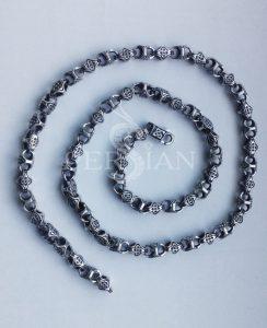 Серебряная цепь «Кельтский узел»