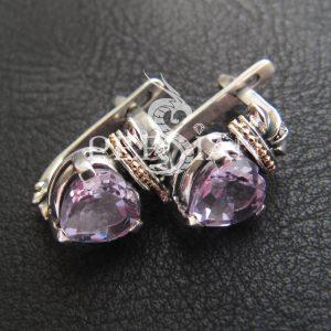Серебряные серьги «Кладдах» с аметистом