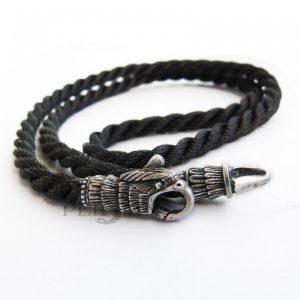Шёлковый шнурок «Верный Орёл» с серебряными наконечниками