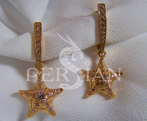 Серьги из золота «Созвездие Персиан» с аметистами
