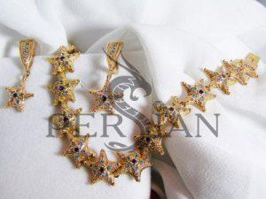 Золотой браслет «Созвездие Персиан» с лондон топазами