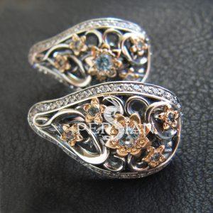 Серебряные серьги «Весенняя Рапсодия» со свисс топазом