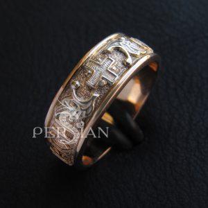 Кольцо золотое «Православный Оберег»