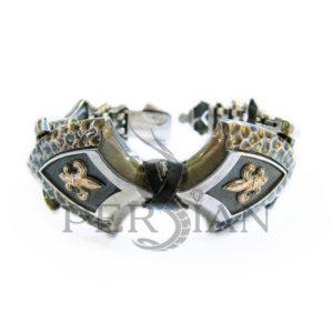 Браслет «Королевская Власть» с золотыми накладками