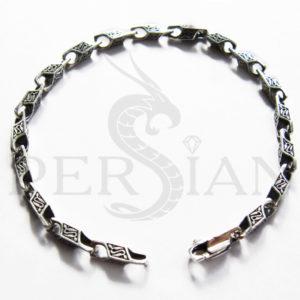 Браслет серебряный литьевой с мелкими звеньями