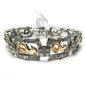 Серебряный браслет «Райские Птички» со скай топазами