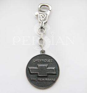 Брелок для авто из серебра «Chevrolet»