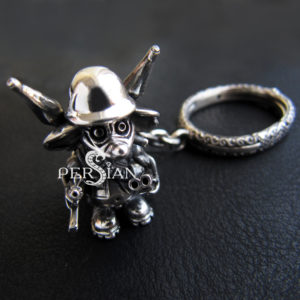 Брелок серебряный «Воинственная Мышь»