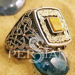 Серебряный перстень «Дар Волхвов» с тигровым глазом