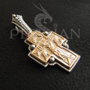 Серебряный «Фёдоровский Крест» с золотой накладкой