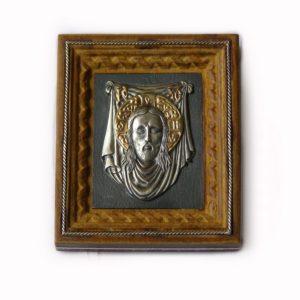 Икона «Иисус Христос» с золотой накладкой