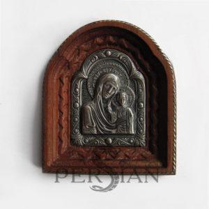 Автомобильная икона из серебра «Казанская Божья Матерь»