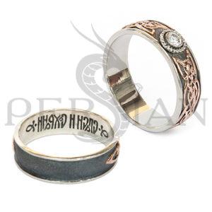Серебряное кольцо «Кельтское Солнце» с цирконом