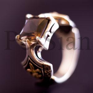 Серебряный перстень «Королевская Власть» с раухтопазом