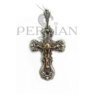 Православный крест из серебра с золотой накладкой