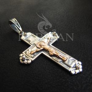 Серебряный «Латинский Крест» с золотой накладкой