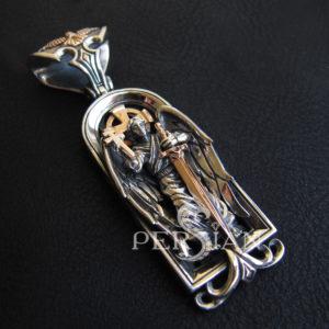 Образок «Ангел Хранитель» с золотыми накладками