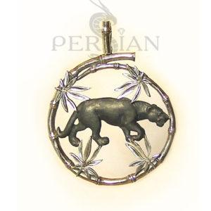 Подвес «Пантера» серебряный