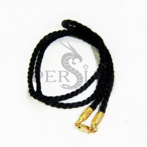 Шёлковый шнурок «Бусинка» с золотыми наконечниками