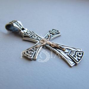Серебряный «Тевтонский Крест» с золотой накладкой