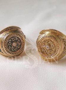 Золотой мужской перстень «Всевластный»