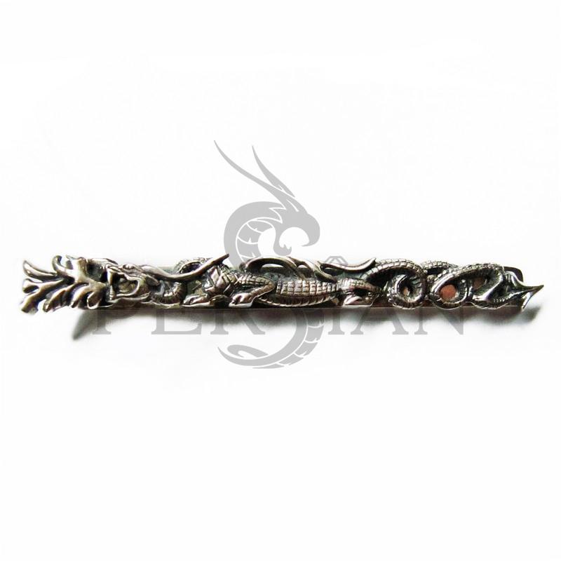 Серебряный зажим для галстука «Властелин Драконов»