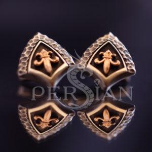 Серебряные запонки «Королевская Власть» с золотой накладкой