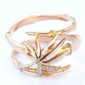 Кольцо золотое «Бамбук»
