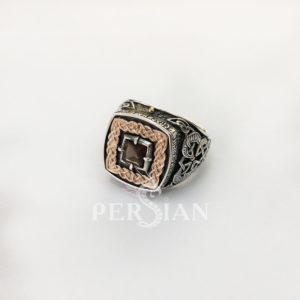 Серебряный перстень «Дар Волхвов Спаси и Сохрани» с раухтопазом