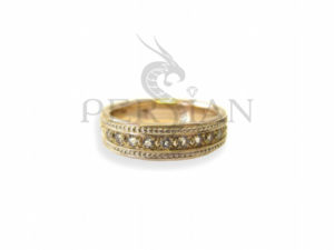 Золотое кольцо «Дорожка» со скай топазами