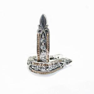 Серьги «Дорожка» серебряные со скай топазами