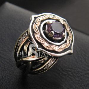 Серебряное кольцо «Elfe» с аметистом