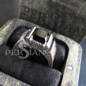 Серебряная мужская печатка «Fatum» с чёрным ониксом